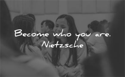 be yourself quotes become who you are friedrich nietzsche wisdom asian woman smiling