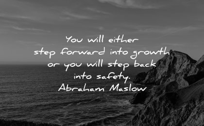 business quotes will either step forward into growth back into safety abraham lincoln wisdom nature