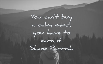 calm quotes cant buy mind have earn shane parrish wisdom nature mountains