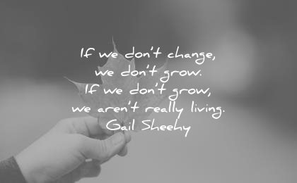 change quotes dont grow arent really living gail sheehy wisdom