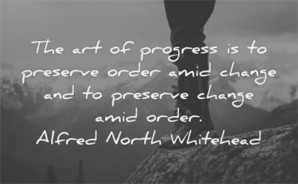 change quotes art progress preserve order amid alfred north whitehead wisdom nature