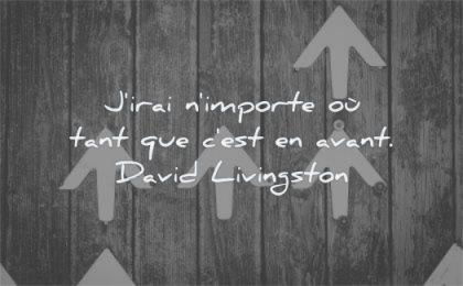 citations sur la vie irai importe tant avant david livingston wisdom fleche bois