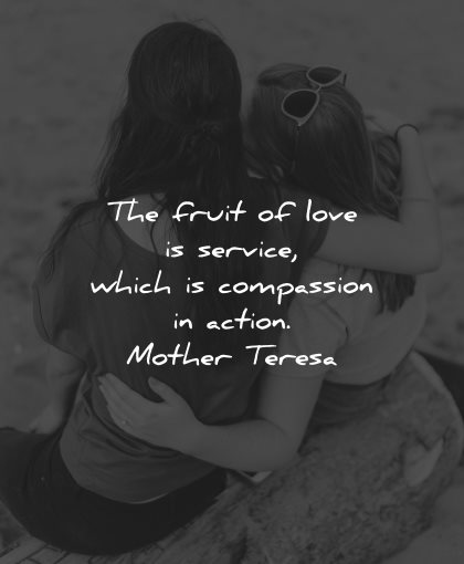 compassion quotes fruit love service which action mother teresa wisdom