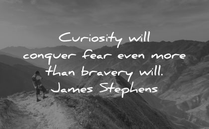 curiosity quotes conquer fear bravery james stephens wisdom