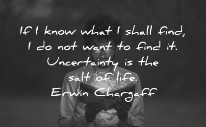 curiosity quotes know what shall find not want find uncertainty erwin chargaff wisdom