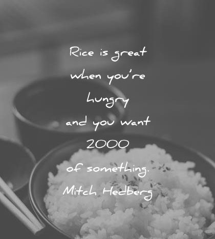 funny quotes rice great when hungry you want 2000 something mitch hedberg wisdom