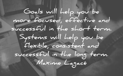 goals quotes will help you more focused effective successful maxime lagace wisdom