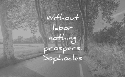 hard work quotes without labor nothing prospers sophocles wisdom