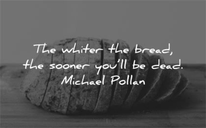 health quotes whiter bread sooner will dead michael pollan wisdom