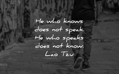 introvert quotes knows does not speak speaks not know lao tzu wisdom man walking