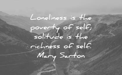 introvert quotes loneliness poverty self solitude richness self mary sarton wisdom