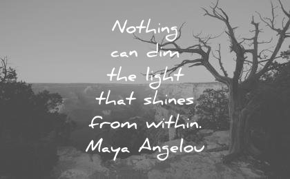 introvert quotes nothing can dim light that shines within maya angelou wisdom