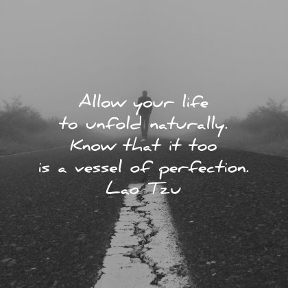 lao tzu quotes allow life unfold naturally know that vessel perfection wisdom road nature mist