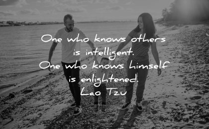 lao tzu quotes one who knows others intelligent himself enlightened wisdom family walk beach