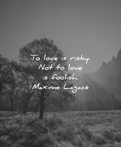 love quotes to risky not foolish wisdom