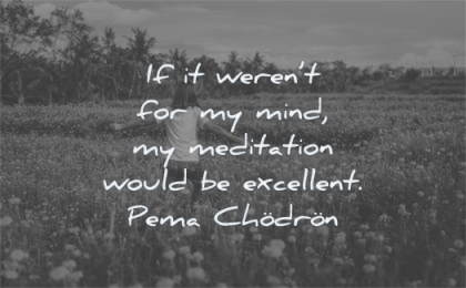 meditation quotes werent mind would excellent pema chodron wisdom fields