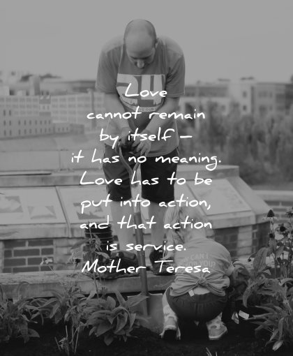 mother teresa quotes love cannot remain itself meaning action service wisdom