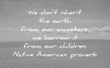 nature quotes dont earth from our ancestors borrow our children native america proverb wisdom