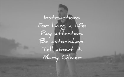 quotes to live by instructions living life pay attention astonished tell about mary oliver wisdom man happy