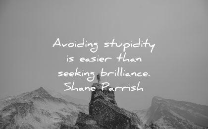 risk quotes avoiding stupidity easier seeking brilliance shane parrish wisdom nature