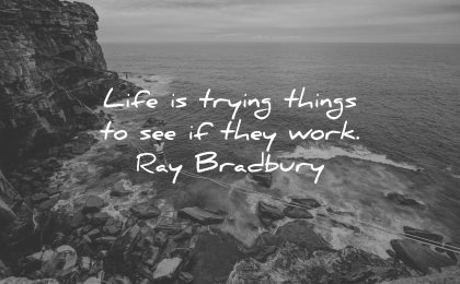 risk quotes life trying things see they work ray bradbury wisdom nature