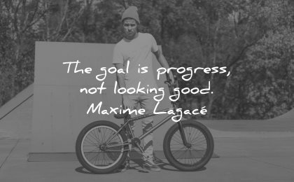 risk quotes goal progress not looking good maxime lagace wisdom bike