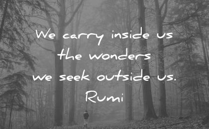 rumi quotes carry inside the wonders seek outside us wisdom