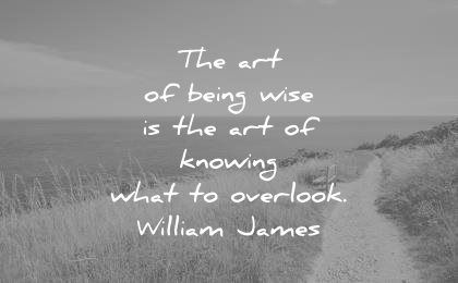 simplicity quotes the art being wise knowing what overlook william james wisdom